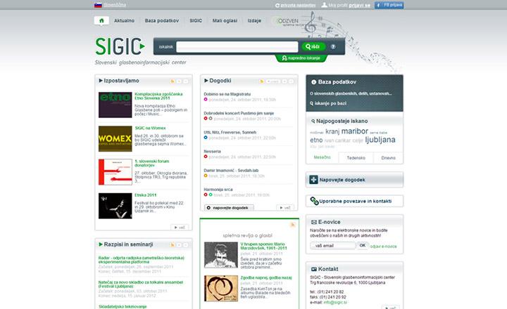 SIGIC - Slovenski glasbenoinformacijski
