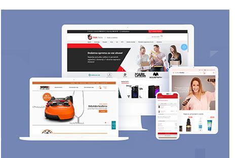 Pri izdelavi spletnih trgovin se držimo naslednjih ključnih značilnosti dobre spletne trgovine: